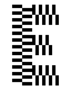pattern typeface medium
