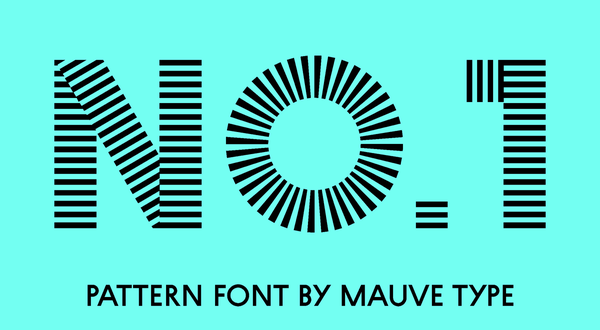 pattern font with stripes