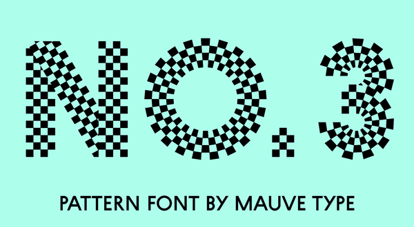 checkered font