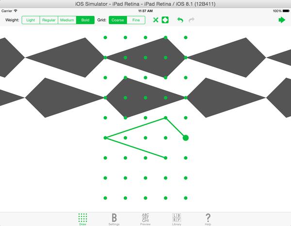 Pattern Fonts Generator Application screenshot