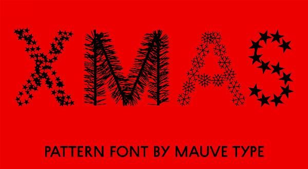 xmas pattern font